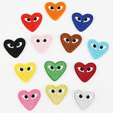 hearts eyes embroidery