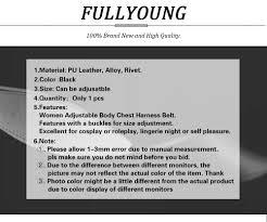 <b>Fullyoung</b> 2PCS Leather Harness Belt Body <b>Bondage</b> Garter Sets ...