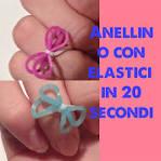 DIY charms con elastici a fiocco -