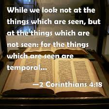 Image result for 2 corinthians 4:18