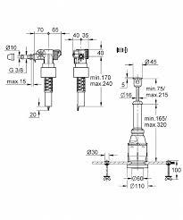 Купить <b>Grohe</b> 37521PI0 <b>Servo Смывной клапан</b> для подключения ...