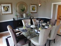 Mirror Dining Room Tables Dining Room Mirror Ideas Gallery Wall With Round Glass Table Top