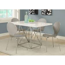 size dining room contemporary counter: full size of dining room contemporary white glossy chrome metal counter height dining table