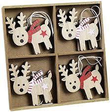 BOMOZQ Christmas Decoration Cartoon Wooden ... - Amazon.com