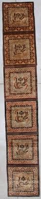 #7151 <b>Antique Tibetan</b> Meditation Rug 2'<b>3 x</b> 20'<b>3</b> - <b>ANTIQUE</b> ...