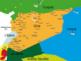 Resultado de imagem para mapa da siria