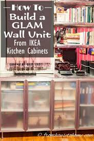 appealing ikea varde: how to build a glam wall unit from ikea kitchen cabinets