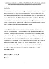 research methodology ethical issues in research an assignment