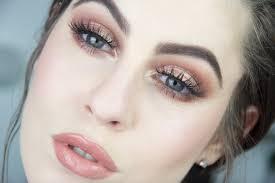 bronzed eye lip makeup tutorial fair skin