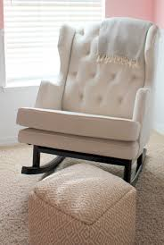 baby nursery rockers fantastic glider rocking chair idea with cozy white seat pad and tufted baby nursery rockers rustic