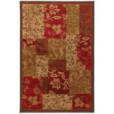 home patchwork cafe kitchen rug multi color mohawk homeselect kaleidoscope patchwork brocade rectangular red trans