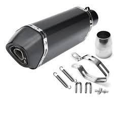 <b>36</b>-<b>51mm</b> Black Carbon Fiber Head <b>Modified Motorcycle Exhaust</b> ...