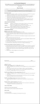 loss prevention manager resume template   great resume templatesloss prevention management