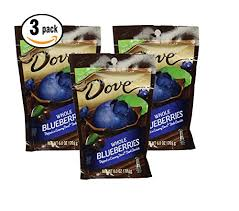 Pack of 3 - Dove Whole Dried <b>Blueberries Dipped in</b> Creamy Dove ...