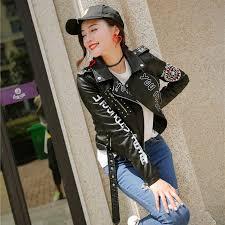 <b>women's long-sleeved zipper leather</b> jacket – Zoppah.com | Zoppah ...