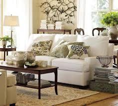 living room rectangle light brown leather tufteed ottoman coffee barn living rooms room