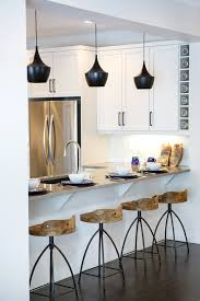 industrial bar stool in kitchen contemporary with black pendant light arteriors stools black modern kitchen pendant lights
