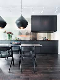 tom dixon slab and beat black black kitchen lighting