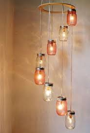 pretty in pink mason jar chandelier hanging light by bootsngus austin mason jar pendant lamp diy