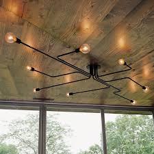 vintage pendant lights <b>industrial</b> iron <b>suspension luminaire</b> lighting ...
