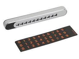 <b>Автовизитница Sliding Cover</b> Temporary Parking Number Plate ...