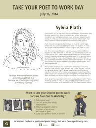 take your poet to work sylvia plath sylvia plath take your poet to work day printable