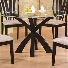 round dining table base: deep merlot finish round dining room tables with casual dining table base and glass top table design