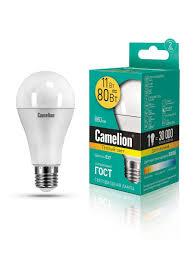 <b>Светодиодная лампочка LED</b> 11W 3000К <b>E27 Camelion</b> 9869150 ...