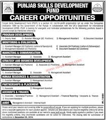 punjab skills development fund psdf jobs for assistant official advertisement for punjab skills development fund psdf jobs 2016 for assistant manager associates others