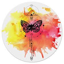 Коврик для мышки (круглый) Круглый <b>Butterfly abstract</b> geometry ...