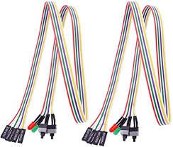 Fancasee (2 Pack) PC Motherboard <b>Power Switch Button Cable</b> ...