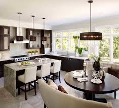 tailored glamour contemporary kitchen breakfast nook lighting