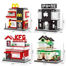 <b>hot</b> LegoINGlys <b>creators city mini</b> Street view McDonald apple store ...