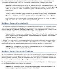 questions to ask at town halls american civil liberties union of townhall one pager final 2