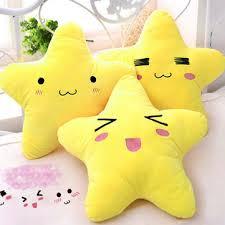 cotton <b>cute cartoon</b> star expression shape throw pillow plush sofa ...