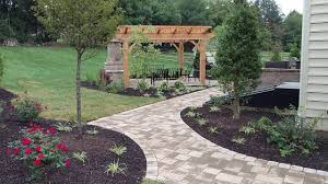 outdoor fireplace paver patio: paver patio outdoor fireplace timber frame pergola