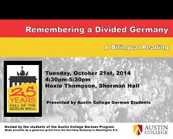 berlin wall campus weeks bilingual reading