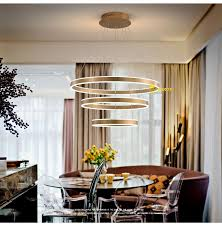 <b>Modern</b> Led Chandelier Acrylic Lighting Ring <b>Avize</b> Lustres With ...