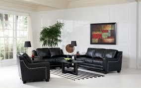 living room impressive categories sofas finely leather living room set in black black leather living room
