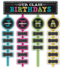 chalkboard brights our class birthdays mini bulletin board bulletin boards