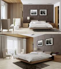 bedroom paneling ideas: dark brown wooden wall paneling dark brown wooden wall paneling contemporary modern bedroom furniture round grey fur rug queen size white mattres black fur rug contemporary pendant lamps