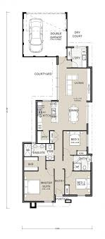 Two Story House Plans Narrow Lot Rear   Free Online Image House Plans    Single Story Narrow Lot House Plans on two story house plans narrow lot rear
