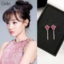 Gnle <b>S925 silver needle</b> Love Earrings   Shopee Brasil