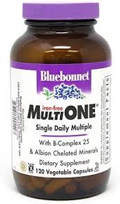 Bluebonnet Nutrition Multi One (Iron Free) Vegetable ... - Amazon.com