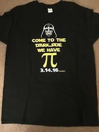 Star Wars <b>Gildan</b> unisex T-shirt. <b>Darth Vader</b> and pi day. Size L. Black.