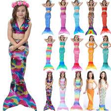 (eBay Sponsored) Kids <b>Girl</b> 3Pcs <b>Mermaid Tail</b> Swimming Bikini Set ...