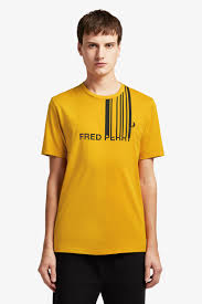 Fred Perry Graphic <b>T</b>-<b>Shirt</b> - <b>Gold</b> | <b>Men's T</b>-<b>Shirts</b> | Designer <b>T</b>-<b>Shirts</b> ...