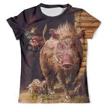 """Мужские <b>футболки</b> c необычными принтами """"боров"""" - <b>Printio</b>"""