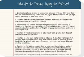 keeping educators in the profession can avert teacher shortage crisis needed better teaching conditions