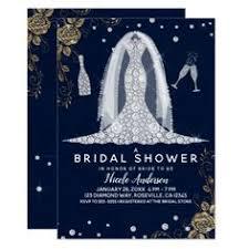 <b>Diamond Wedding</b> Dress Royal Purple Bridal Shower <b>Card</b>